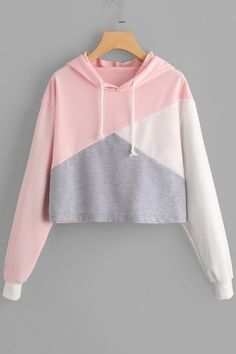 Women Sweatshirts Autumn Harajuku Hoodies Thick Fleece Color Patchwork Cropped Sweatshirt Hooded Tracksuit Moletom Size S Color A Komplette Outfits, Teen Fashion Outfits, Casual Outfits, Style Fashion, Gucci Fashion, Fashion Styles, Fashion Ideas, Fashion Inspiration, Fashion Tips