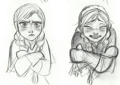Disney Frozen Anna Sketches