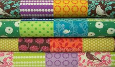 Some of the fabric I used for my birds. I love these colors...inspiration for the cake smash.