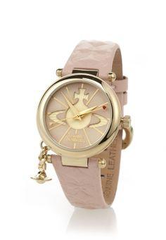 Pink Orb Watch by Vivienne Westwood Vivienne Westwood Bracelet, Vivienne Westwood Watches, Vivienne Westwood Jewellery, Jewelry Accessories, Women Jewelry, Amazing Watches, Gold Watch, Jewels, Pink