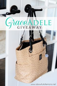 657bcf2992f8 Grace Adele Giveaway A Bowl Full of Lemons.I so want this chocolate Grace  Adele purse.