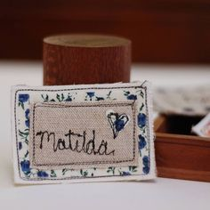 personalised handmade name badge by handmade at poshyarns | notonthehighstreet.com