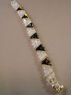 right angle weave bracelet wit