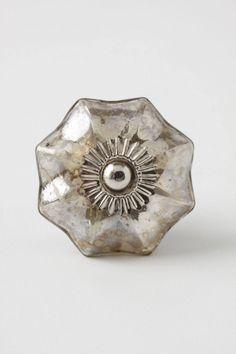 This is pretty, too. Mercury Glass Melon Knob - anthropologie.com