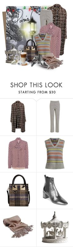 """Зима в Париже"" by holidai ❤ liked on Polyvore featuring Dolce&Gabbana, Etro, RED Valentino, Polo Ralph Lauren, Yves Saint Laurent, Forzieri and Haoshi Design"