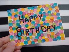 Spaß mit den G2 Gel Stiften von Pilot Pen (Kooperation) Geburtstagskarte Fingerstempeln