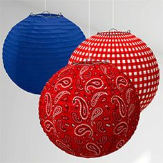 Wild West Party Paper Lanterns - 24cm