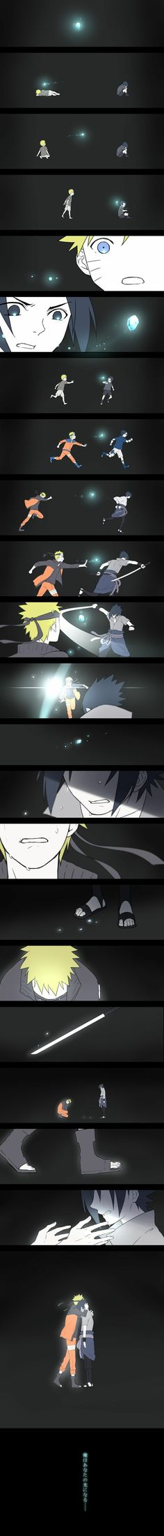 Ilustrasi Cahaya Persahabatan Naruto dan Sasuke
