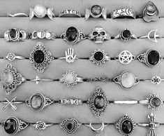 Nail Jewelry, Cute Jewelry, Boho Jewelry, Antique Jewelry, Jewelry Box, Silver Jewelry, Jewelry Accessories, Fashion Accessories, Silver Rings