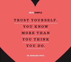 trust yourelf
