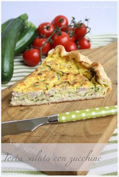 Farina, lievito e fantasia: Torta salata con zucchine