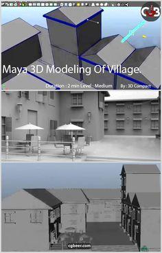 Free course Maya 3D Modeling one village,#maya,#autodesk,#tutorial,#3dmodeling,#architectural.