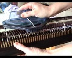 Bond Cast On Comb & needle pushers by Machine Knitting By Susyranner