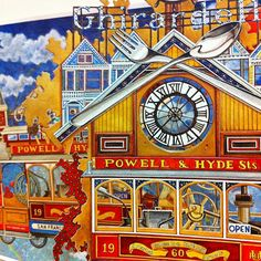 #Watercolor & #coloredpencils on #paper  #수채화 랑 #색연필 로 #색칠공부 ⭐️⭐️⭐️⭐️⭐️⭐⭐⭐️️⭐️⭐️⭐️️⭐️⭐️⭐️ #꿀잼 #기라델리 #쵸콜렛 #쵸콜렛공장 #뻐꾸기시계 #샌프란시스코 #케이블카 #컬러링북 #시간의정원 #송지혜작가 #일러스트 #그림 #아트스타그램 #ghirardelli #chocolate #chocolatefactory #sanfrancisco #tram #cablecar #cuckooclock #ghirardellisquare #illustration  #art #artstagram