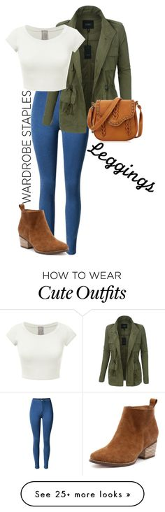 """Cute fall outfit"" by geeky-gilinsky on Polyvore featuring LE3NO, Leggings and WardrobeStaples"