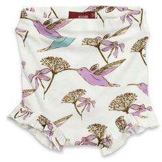 MilkBarn Baby Ruffle Bum Cover in Hummingbird