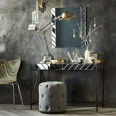 Herringbone Mirrored Vanity #westelm
