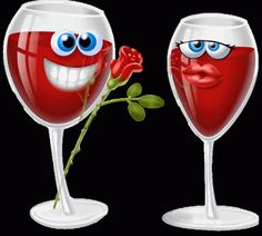 Google+ Love Smiley, Emoji Love, Funny Good Morning Images, Dragon's Lair, Funny Emoji, Wine Quotes, Wine Bottle Crafts, Romance, Wine Glass