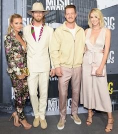 Brittney Marie Cole, singers Brian Kelley and Tyler Hubbard - The Cutest Couples at the 2017 CMT Awards - Photos Country Music Artists, Country Music Stars, Country Singers, Boy Celebrities, Celebs, Tyler Hubbard, Brian Kelley, Cmt Music Awards, Country Bands