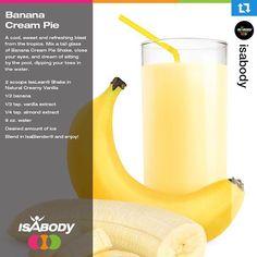 Isagenix Shake Recipes - Banana Cream Pie