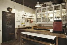 Vintage Lighting for Toronto Eatery Adds to Quirky Atmosphere. #kitchen #rustic #vintage
