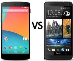 Compare LG Nexus 5 vs HTC One