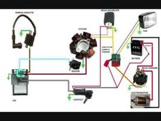Trailer Wiring Diagram, Electrical Circuit Diagram, Motorcycle Wiring, Bobber Motorcycle, Pit Bike, Taotao Atv, Youth Atv, Motor Generator, Harley Gear