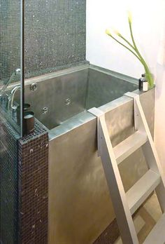 STAINLESS STEEL RECTANGULAR JAPANESE BATH