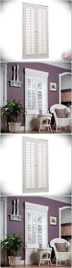 Shutters 66799: 35 X 36 Interior Shutter Window Panel Plantation White Faux  Wood Home Decor