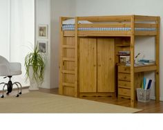 Loft Beds for Teens with closet and desk | Childrens Bunk Beds UK - Limelight Direct - Trade Prices Bunkbeds