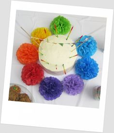 Add the colors of the rainbow to your birthday cake. #rainbow #birthday #cake