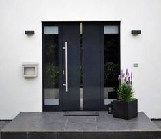 22 Modern Door Design Ideas - Local Home US - Home Improvement Modern Entrance Door, Modern Front Door, Front Door Entrance, House Entrance, Entry Doors, Window Design, Door Design, Exterior Design, Front Door Steps