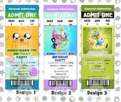 Adventure Time cupcake toppers / stickers / envelope seals / deco