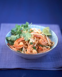 Shrimp Pad Thai: Make a favorite Thai takeout dish at home, starting with a secret sauce made of lime juice, chili sauce, soy sauce, brown sugar, and anchovy paste. For best results, take care not to overcook the shrimp or the rice noodles.