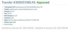AdClickXpress is the top choice for passive income seekers. Making my daily earnings is fun, and makes it a very profitable! I am getting paid daily at ACX and here is proof of my latest withdrawal. This is not a scam and I love making money online with Ad Click Xpress. https://twitter.com/stefanijastef/status/692349495271636992