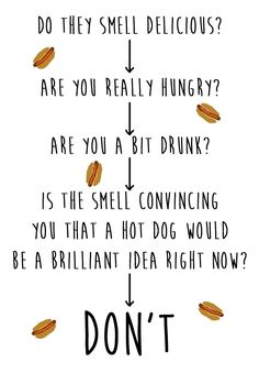 QUESTION: Should I buy a late night hot dog from that stand on the street? | 12 Helpful Charts Every Londoner Should Live Their Life By