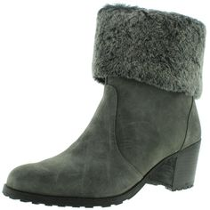 Aerosoles Womens Incognito Faux Fur Ankle Boots