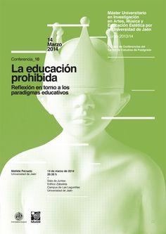 10 / Cartel Ciclo de Conferencias del Máster Oficial de la Universidad de Jaén en Investigación en Artes, Música y Educación Estética – designed by Javi Montoya