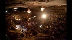 PBS Arts : Bluegrass Underground filmed in the Volcano Room, a subterranean amphitheatre 333 ft below McMinnville, Tennessee at Cumberland Caverns