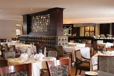 The hotel's restaurant, the Coalhouse Restaurant and Bar, serves breakfast, lunch and dinner, which can seat up to 77 GUESTS. Lunches And Dinners, Restaurants, Table Settings, Bar, Breakfast, Home Decor, Morning Coffee, Decoration Home, Room Decor