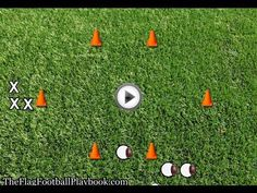 Youth Flag Football Defense Drill - One on One Flag Pulling