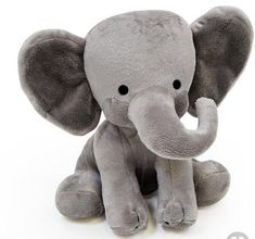 Bedtime Originals Plush Toy, Humphrey Elephant in India- Choo Choo express plush dunphy the elephant measures approximately long x wide, when sitting Pet Toys, Baby Toys, Baby Baby, Baby Elefante, Elephant Birth, Grey Elephant, Elephant Nursery, Elephant Pillow, Nursery Crib