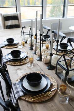 Fall Home Decor, Autumn Home, Cheap Home Decor, Modern Fall Decor, Decoration Table, Table Centerpieces, Centerpiece Ideas, Comment Dresser Une Table, Deco Table