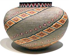 Work of a master weaver | Museum Quality Woven Masterwork Baskets from the Wounaan of Panama. rainforestbaskets.com