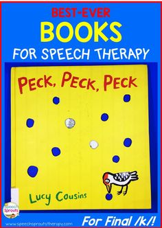 Read about my favorite book for articulation therapy! Love using storybooks to teach speech and language? This adorable book is perfect for final /k/ and rhyme too. www.speechsproutstherapy.com