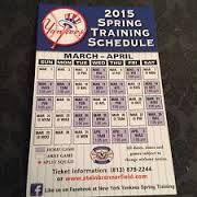 NYY 2015 Spring Training Schedule