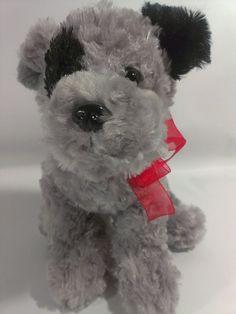 "Dan Dee Grey Shaggy Mutt Puppy Dog Stuffed Animal Plush Gray Pup Soft Toy 12""  #DanDee"