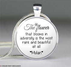 Mulan quote necklace pendantsglass jewelry pendants by resincherry, $11.95