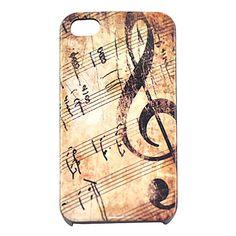 joyland vendimia caso duro del patrón de nota musical para el iphone 4/4s – USD $ 4.99