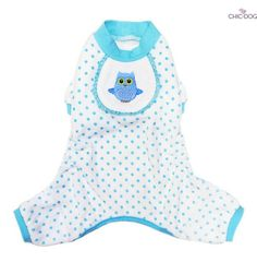 Owl pajama blue - Symbol of wisdom, this #owl will keep your lille #dog warm every night <3 Find it on http://www.chic4dog.com/pigiamini/owl-pajama-blue-2220.html #Chic4Dog
